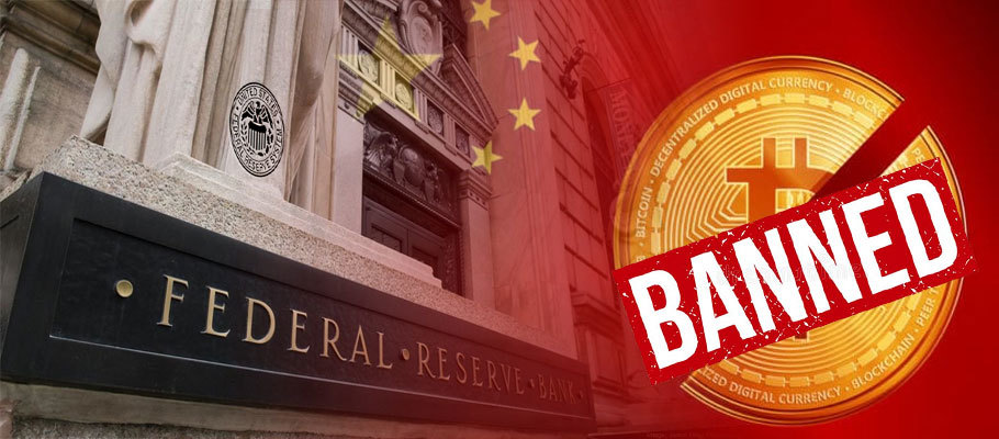 Fed Says It Won't Issue a China-Like Ban on Crypto Trading