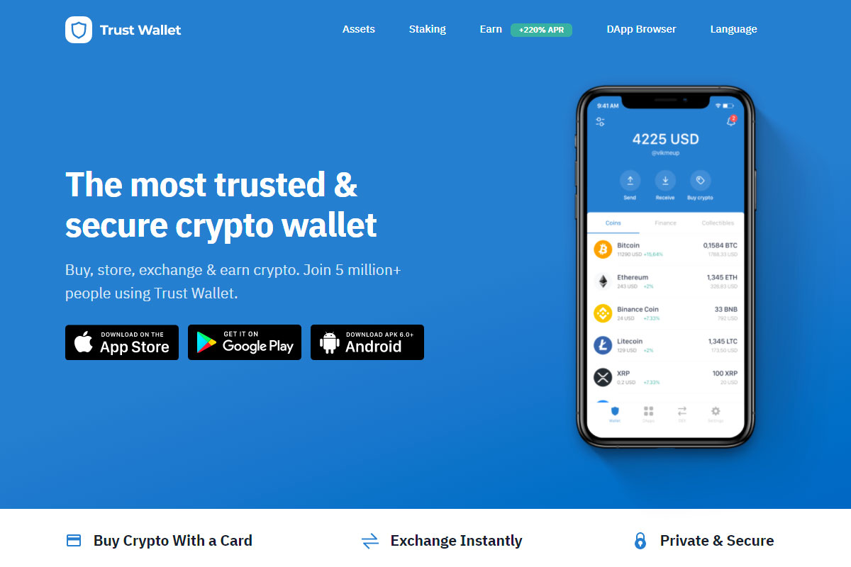 Trust Wallet crypto app