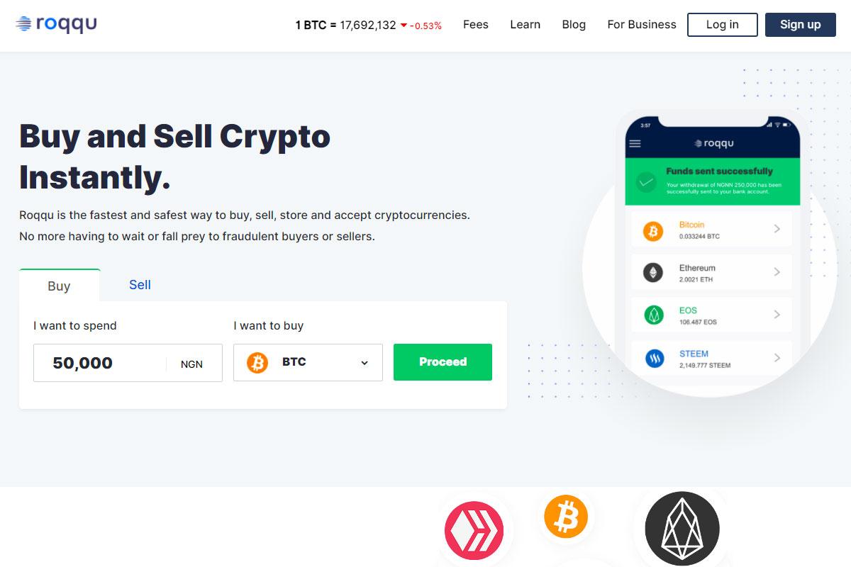 Roqqu crypto app
